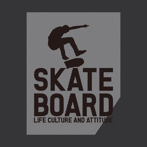 skateboarden sport typografie.