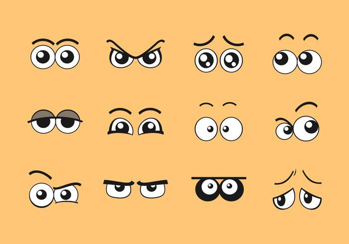 tecknad ögon vektor uppsättning