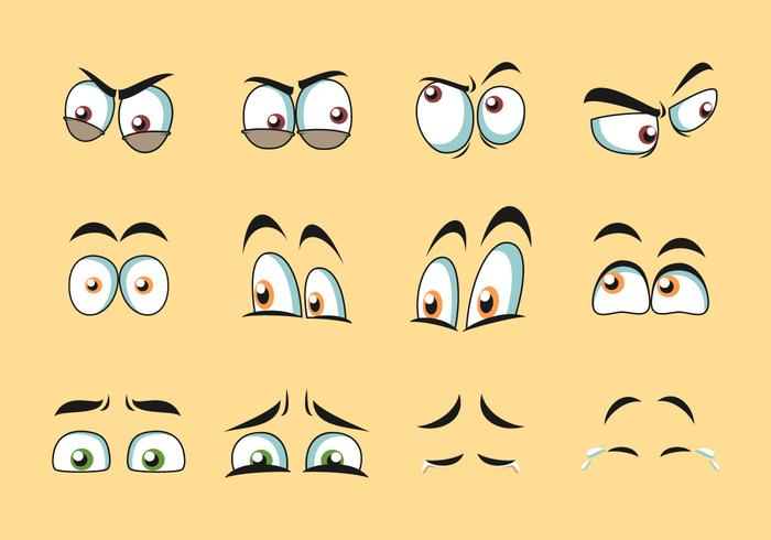 Dibujos animados ojos vector
