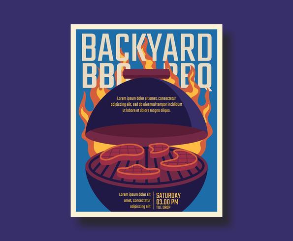 Retro Bbq-affisch