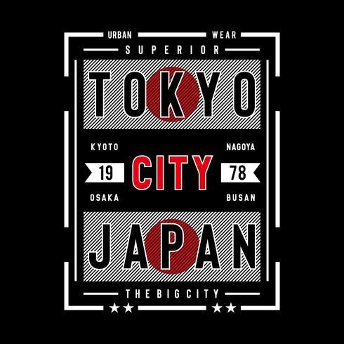 conception de typographie du Japon tokyo pour t-shirt