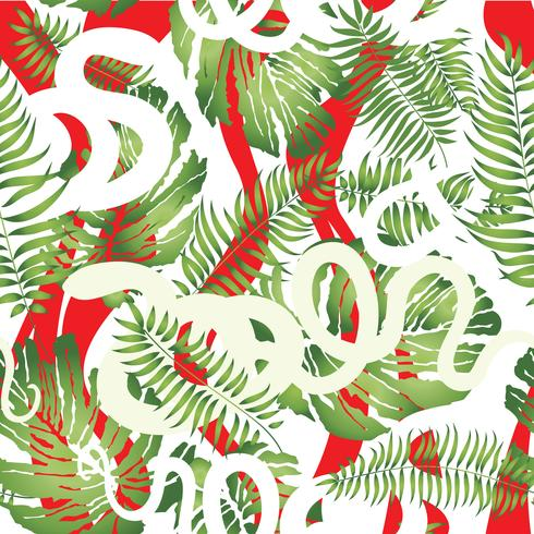 Floral seamless pattern. Abstract tropical geometric background.