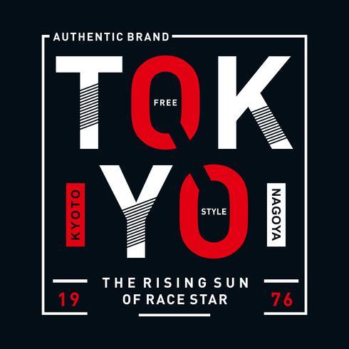 Tokyo-Typografieentwurf für T-Shirt und andere Zwecke