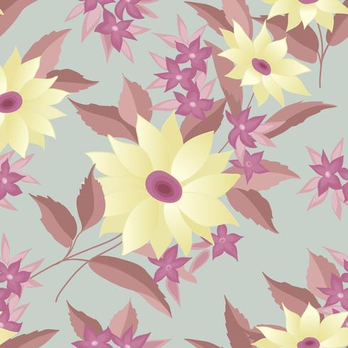 Floral seamless stylish pattern. Spring flower background
