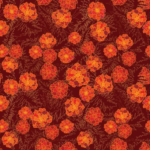 Patrón floral sin fisuras Fondo de la flor. Jardinería vector