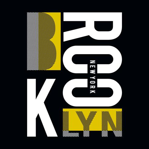 vector illustration for design print T-shirt with an abstract inscription Brooklyn new york