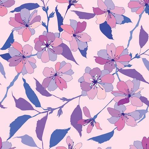 Patrón floral sin fisuras Fondo de la flor.