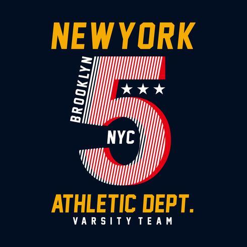 Illustrazione vettoriale sul tema dell'atletica a New York City