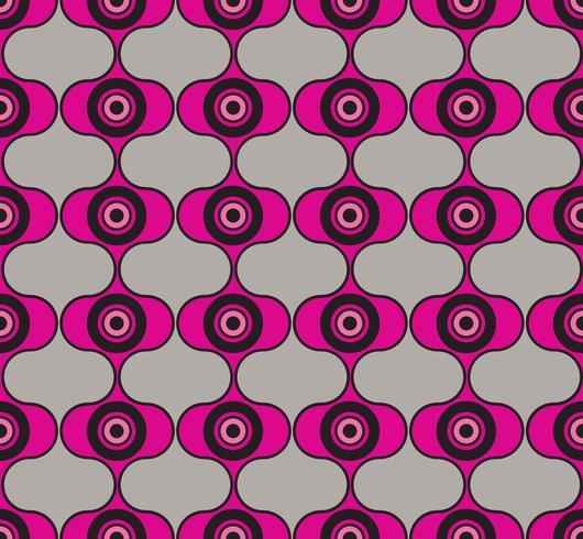 Círculos de fondo sin fisuras Adorno geométrico con estilo vector