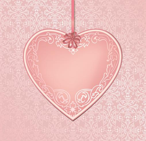 Love hearts holiday background greeting card. Romantic date frame.