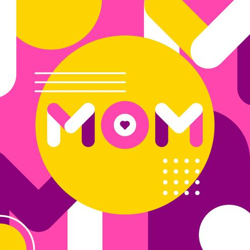 Tipografía Mamá Simple vector