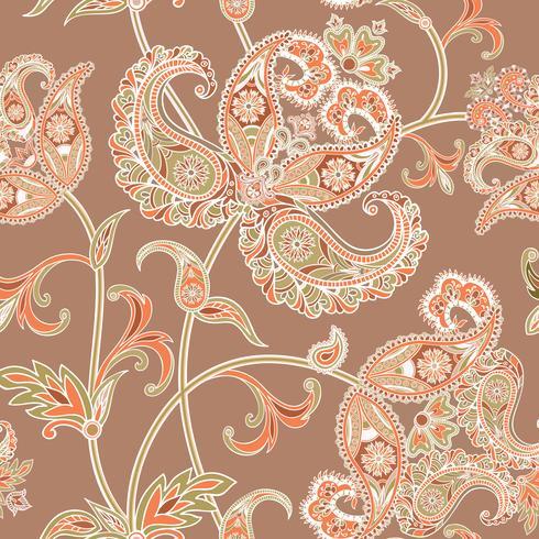 Fondo floral sin fisuras Adorno oriental. Patrón de flores.