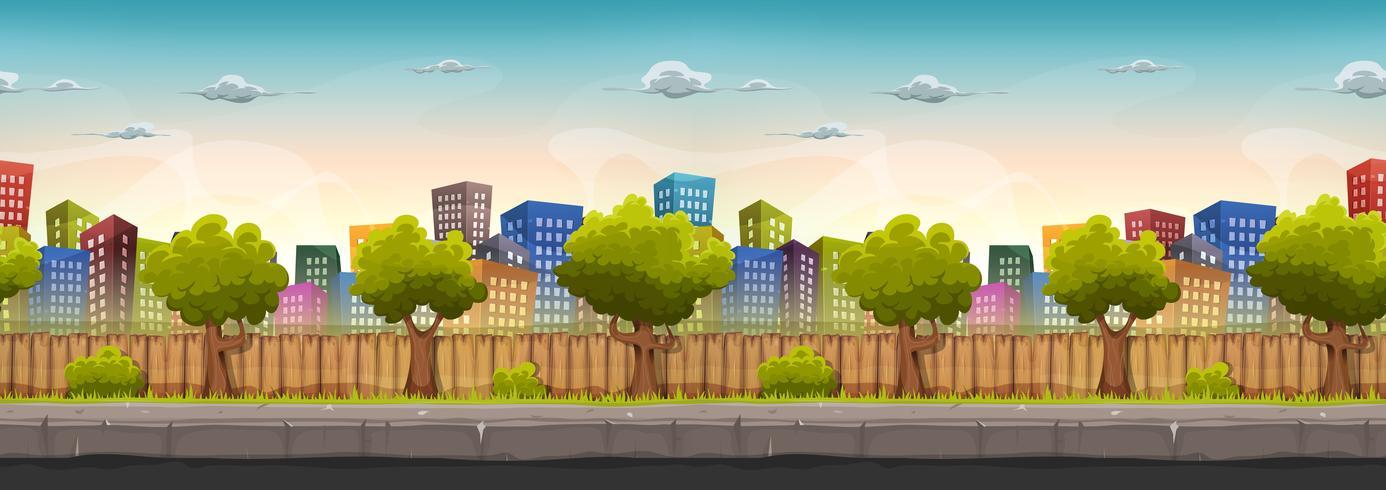 Seamless Street City Landskap För Spel Ui