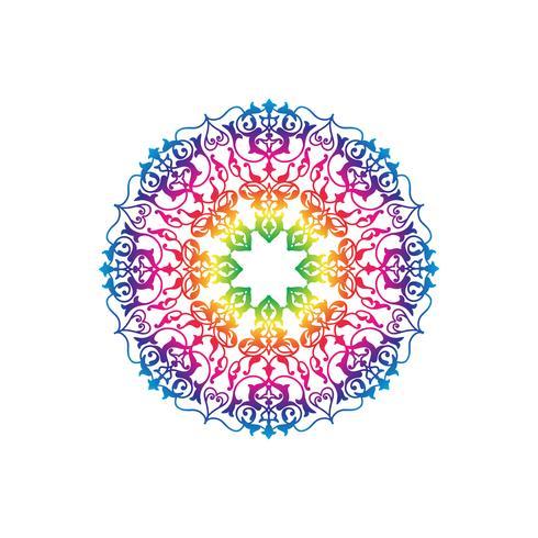 Ornamental round floral pattern. Mandala oriental flower ornament vector