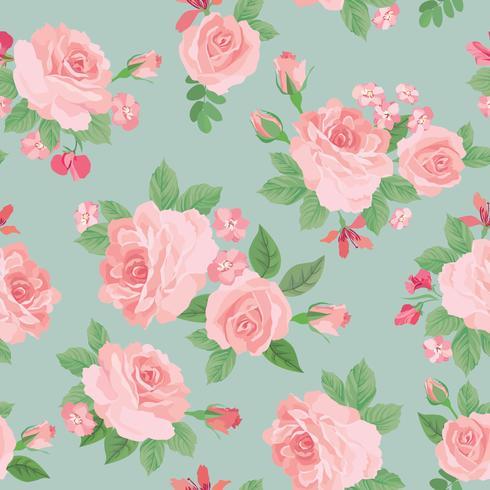Blommigt sömlöst mönster. Blomma bakgrund. Trädgårdsstruktur