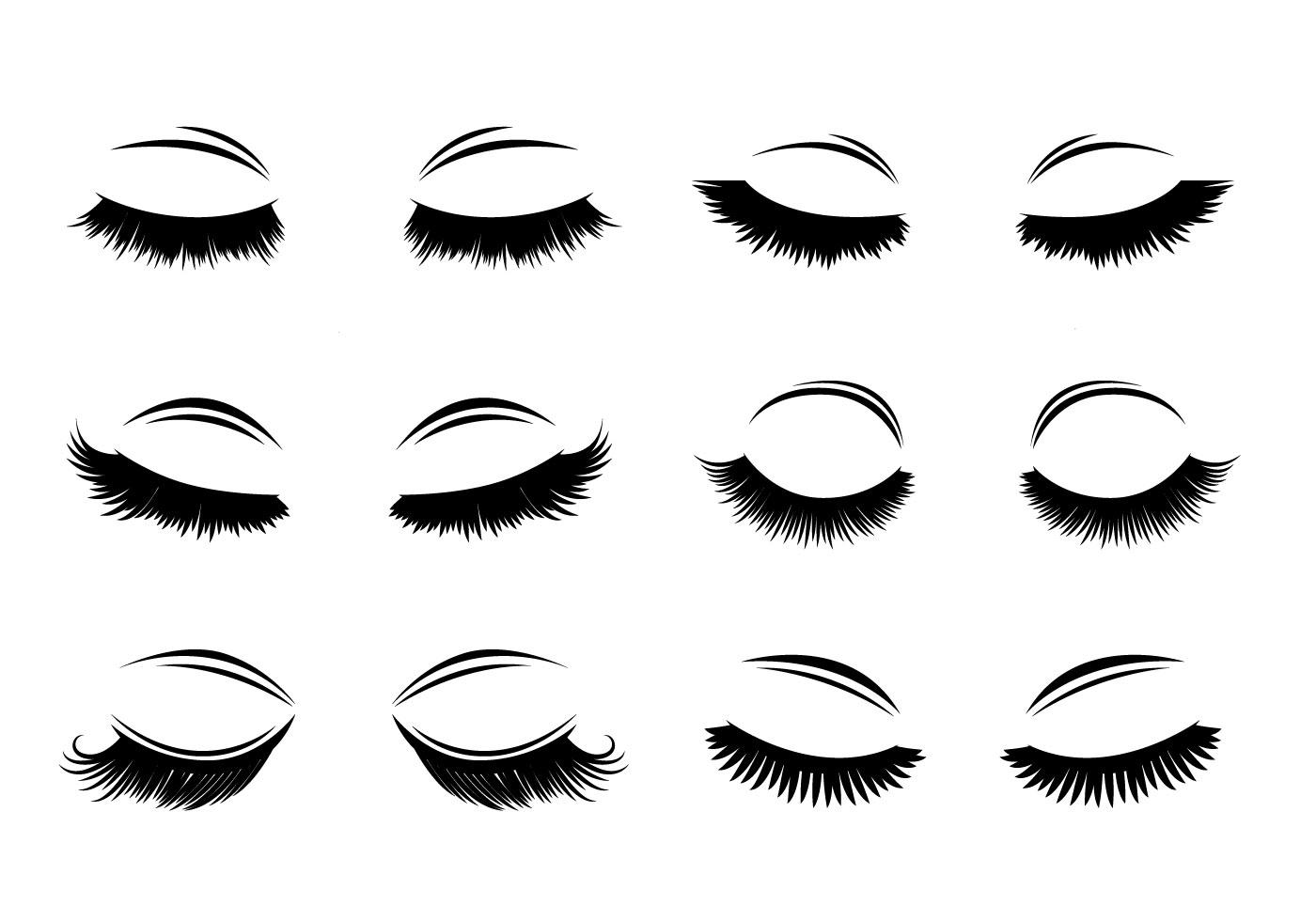 Eyelashes Free Vector Art - (5,409 Free Downloads)