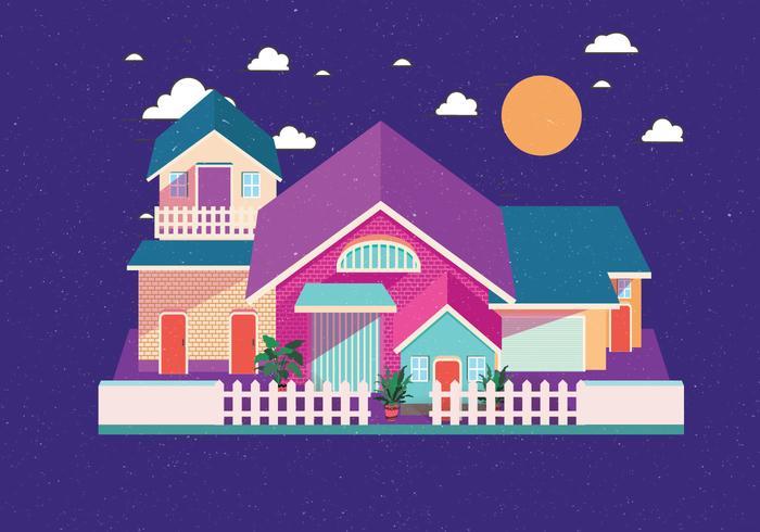 Isometrische Haus Vol 3 Vektor