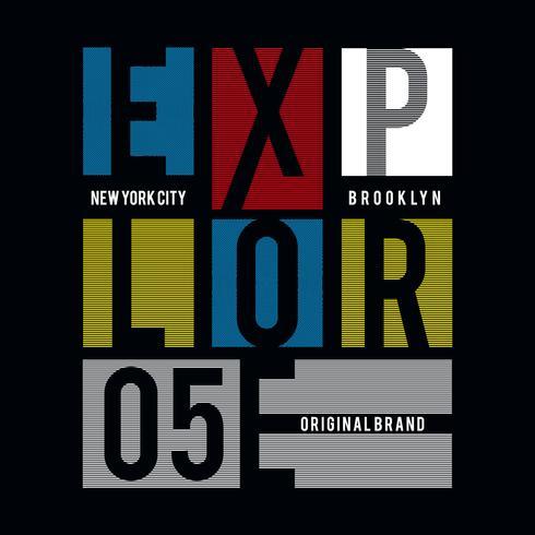 Nueva York explorar tipografía camiseta imprimir