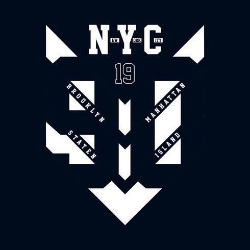 New York City typografie grafische kunst voor t-shirt