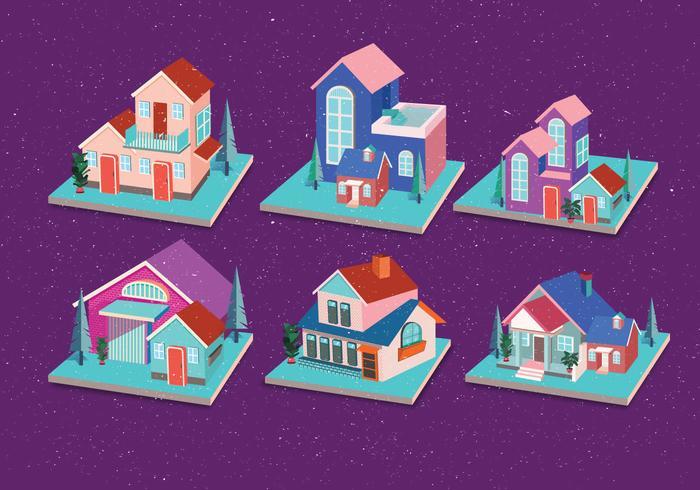 Isometrische Haus Vol 4 Vektor