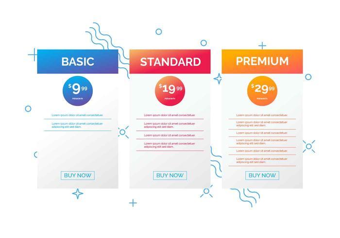 Illustrazione di vettore della tabella di valutazione
