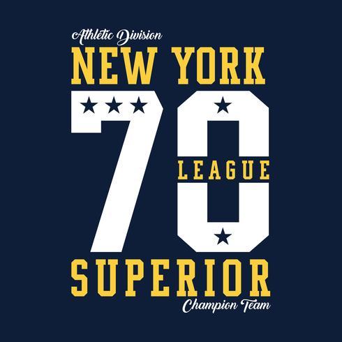 Liga Superior de Nova Iorque - Tee Design For Print