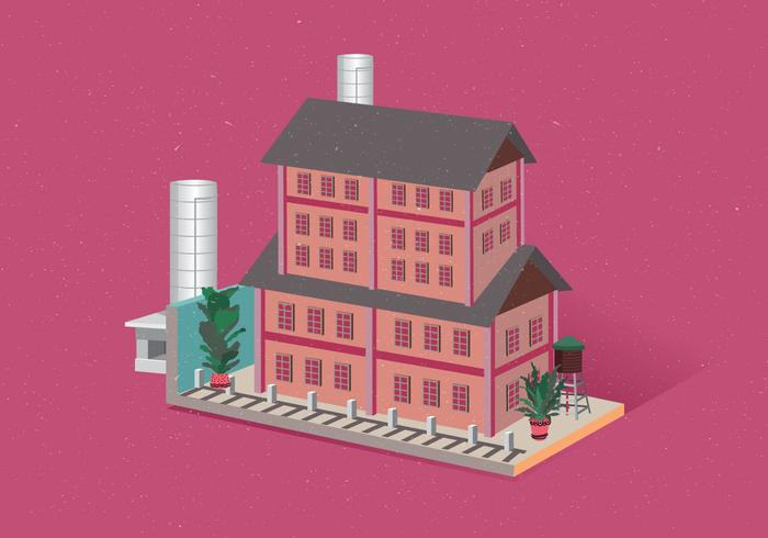 isometrische huis vol 5 vector