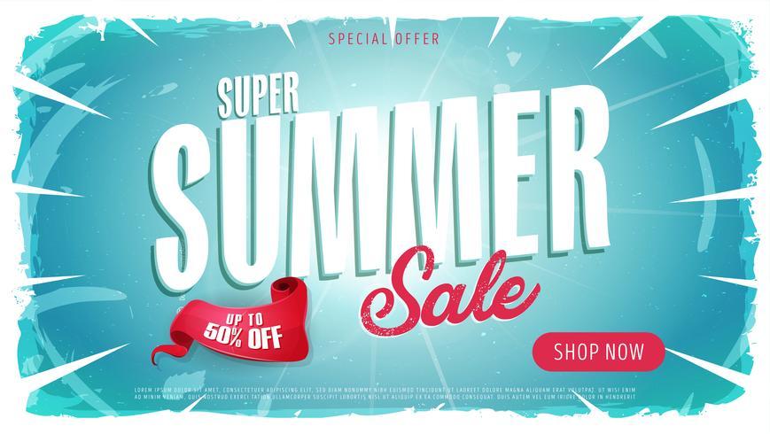 Sommerschlussverkauf Vorlage Banner