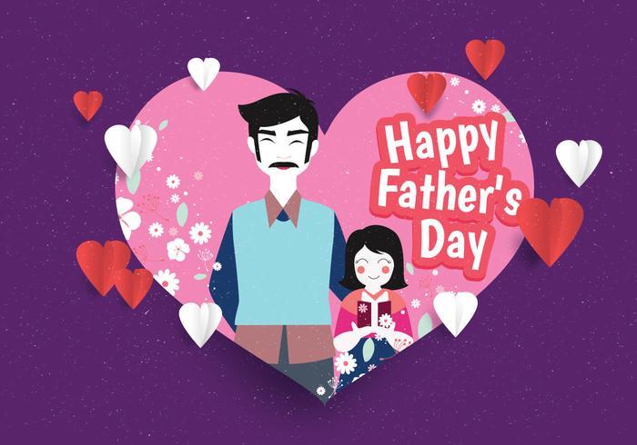 Feliz dia del padre vector