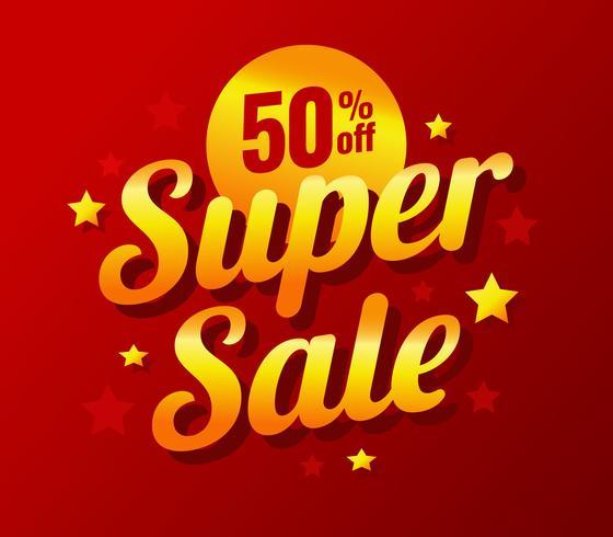 Gold Super Sale Poster Design