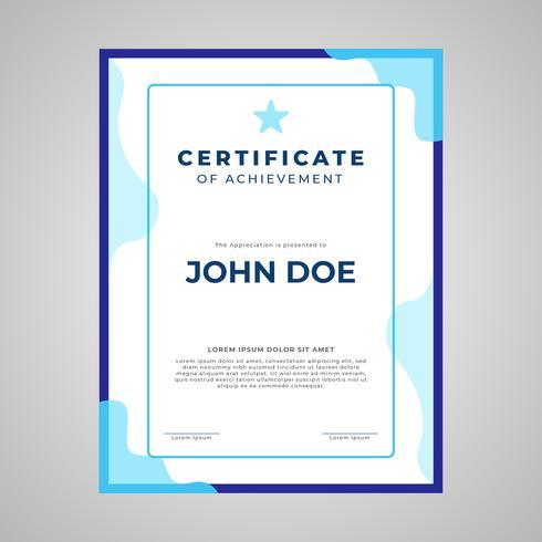 Certifikatmall porträttlayout