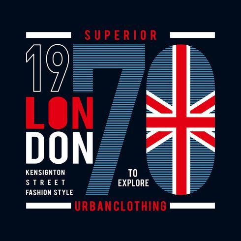 superieur de typografieontwerp van Londen voor t-shirt