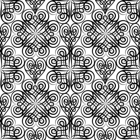 Abstraktes keltisches nahtloses mit Blumenmuster. Linie orientalische Verzierung