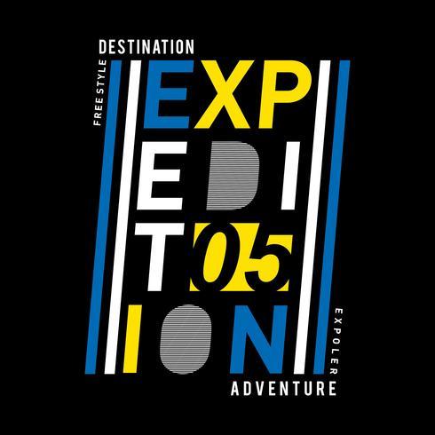 T-shirt, element, vintage expeditie avontuur natuur typografie vectorillustratie voor t-shirt