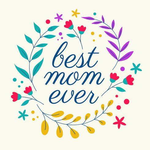 Bästa Mom Ever Typography Vector