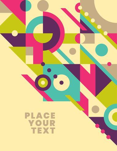 Geometric poster design vector