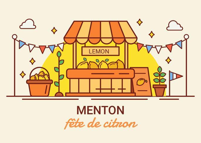 Festival de limon de menton francia vector