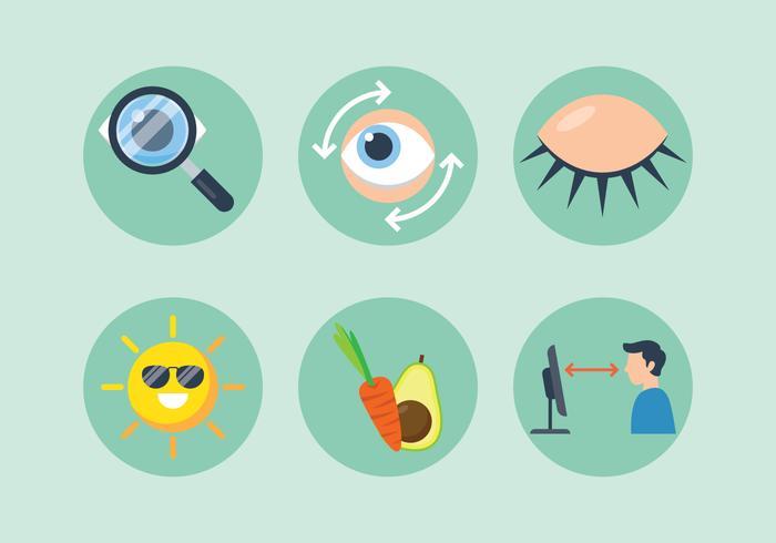 Augen-Gesundheitszeichen