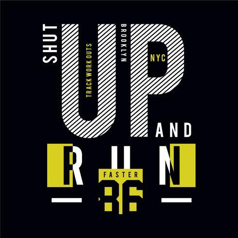 Sportliche Laufsport-Typografie für T-Shirt-Druck und andere Zwecke