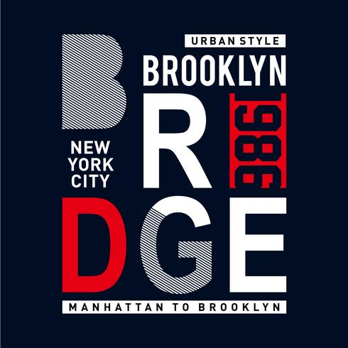 brooklyn bridge urban style t shirt design graphic typography