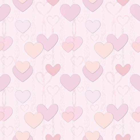 Dessin sans soudure coeurs art ligne lve. Ornement de jour de fête de Saint Valentin