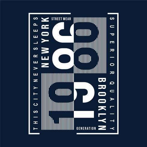 Brooklyn-Typografieentwurfs-T-Stück für T-Shirt