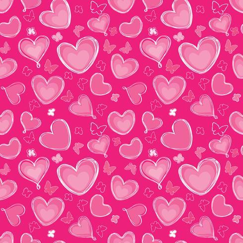 Amour coeur doodle modèle sans couture Valentine jour de vacances