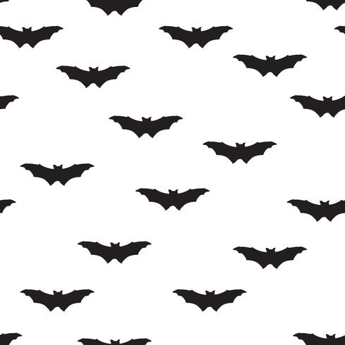 Halloween bat sömlöst mönster. Holiday Halloween bakgrund