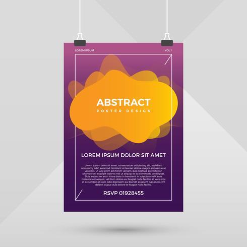 Abstrakte Plakat-Design-Vektor-Vorlage
