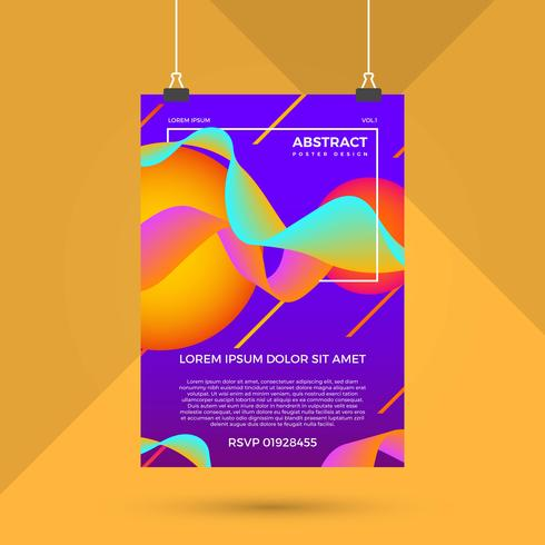 Abstract Colourful Poster Design Vector Template