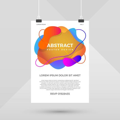 Abstract Shape Poster Design Vector Template