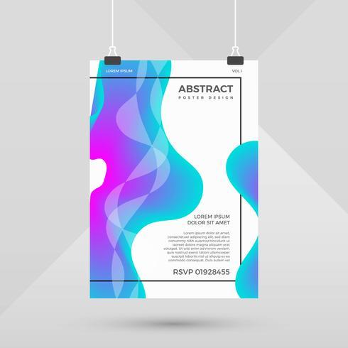 Abstrakte Form-Steigungs-Plakat-Design-Vektor-Schablone