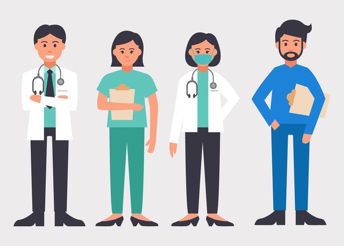 Vector de personajes de salud