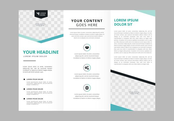 Professional Brochure Vector Template
